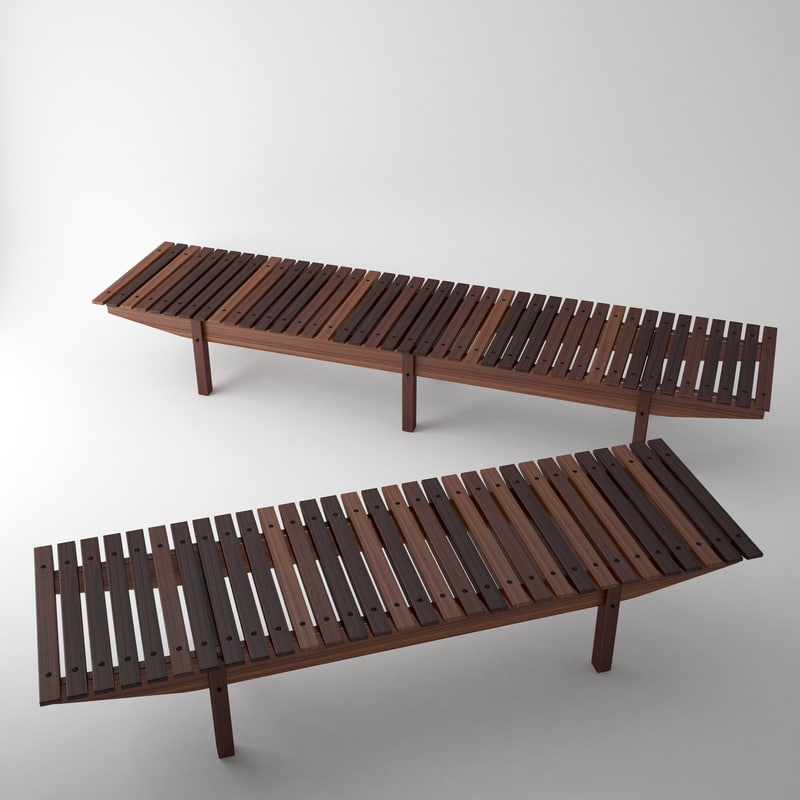 3ds max mucki bench sergio rodrigues