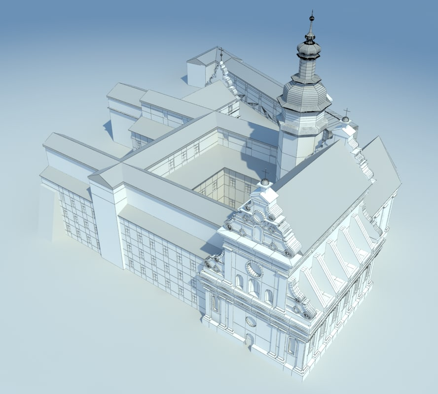 st bernard bernardynski church 3d max
