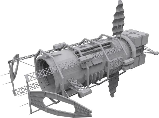 3d model blackstar spaceships mining syndicate