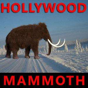 3d mammoth animation