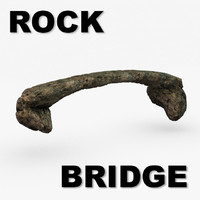 3d natural rock bridge