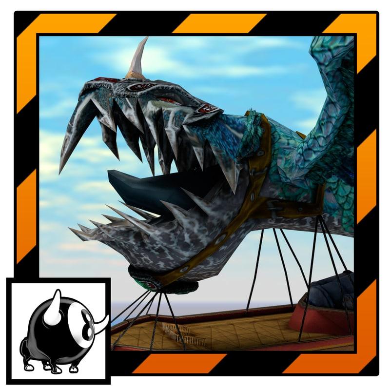 model unity flying monster boss