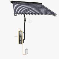 3d model solar heating