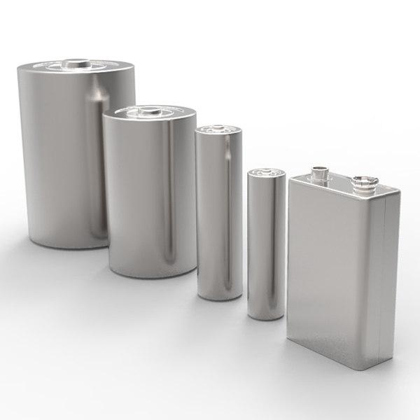 battery 3d model