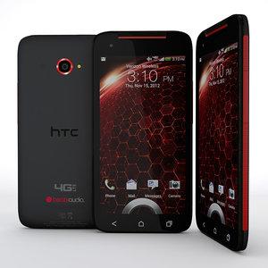 3d htc droid dna smartphone model