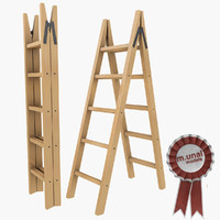 Wooden folding ladder 2