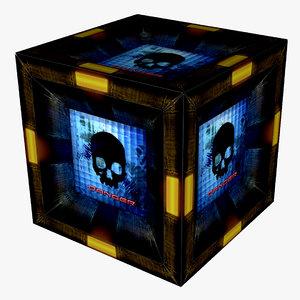 maya grungy sci-fi box