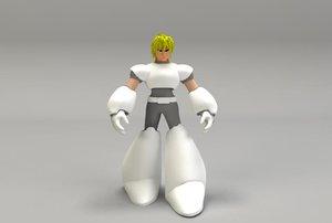 3d manga character model