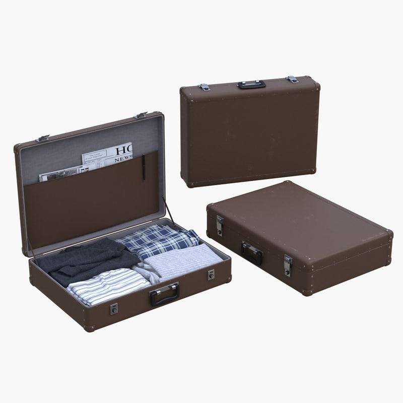 3dsmax suitcase clothes
