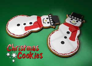 3d model of christmas cookie