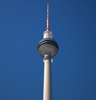 3d tv tower berlin model