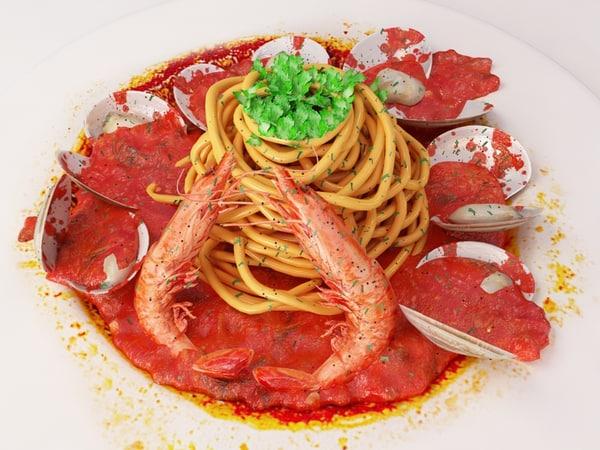 spaghetti tomato sauce 3d model