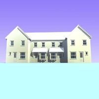 3d model of british houses unit 14
