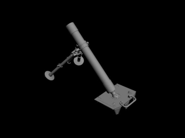 34 mortar 3d model