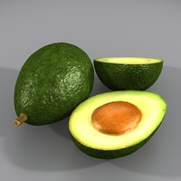 3d model avocado mexico