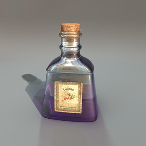 3d antique liquid model