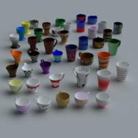3d model coffee cups