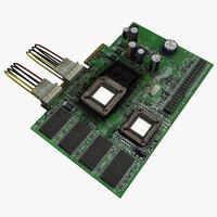 3d circuit board component model
