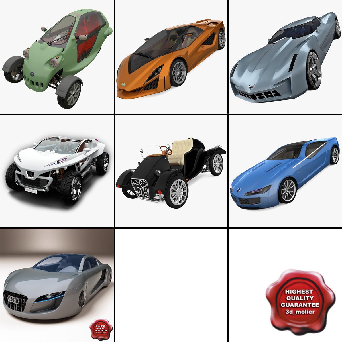 concept cars 4 3d model