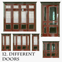 3d classic wood door