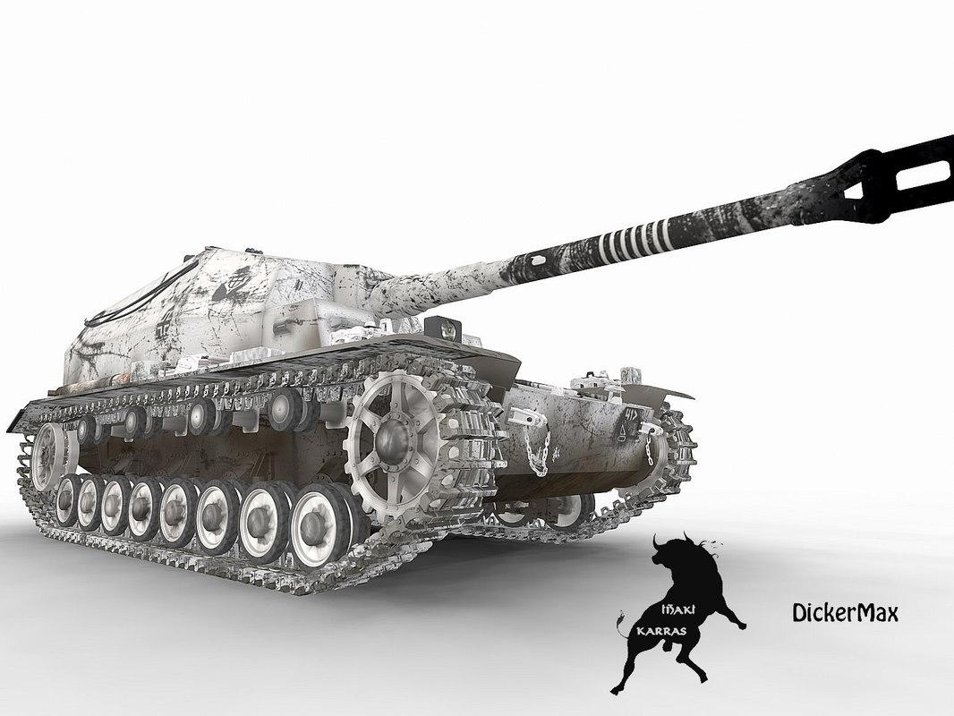 tank dicker winter scheme 3d max