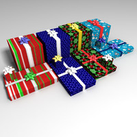 3d holiday gifts model
