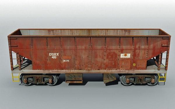 hopper railcar 3d 3ds