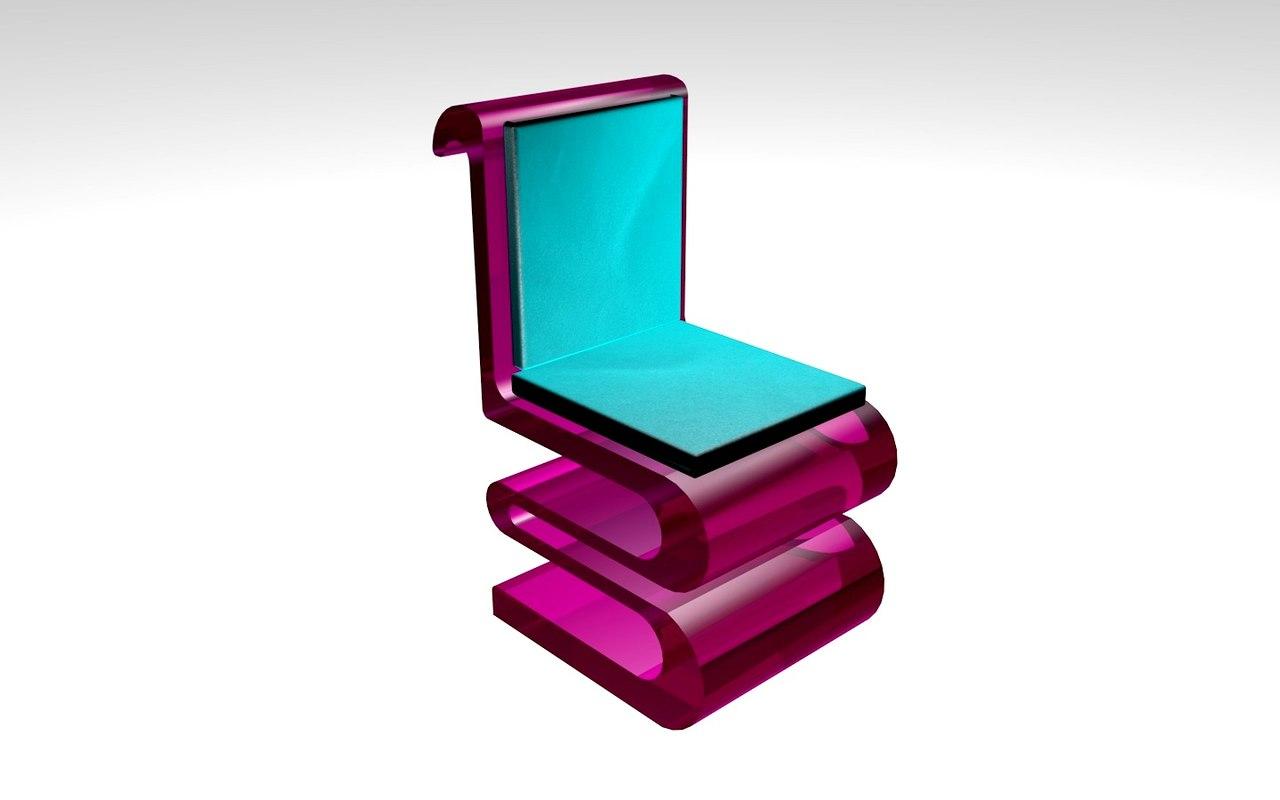 3d waver chair model