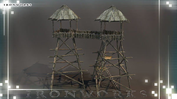 towers catwalk 3d 3ds