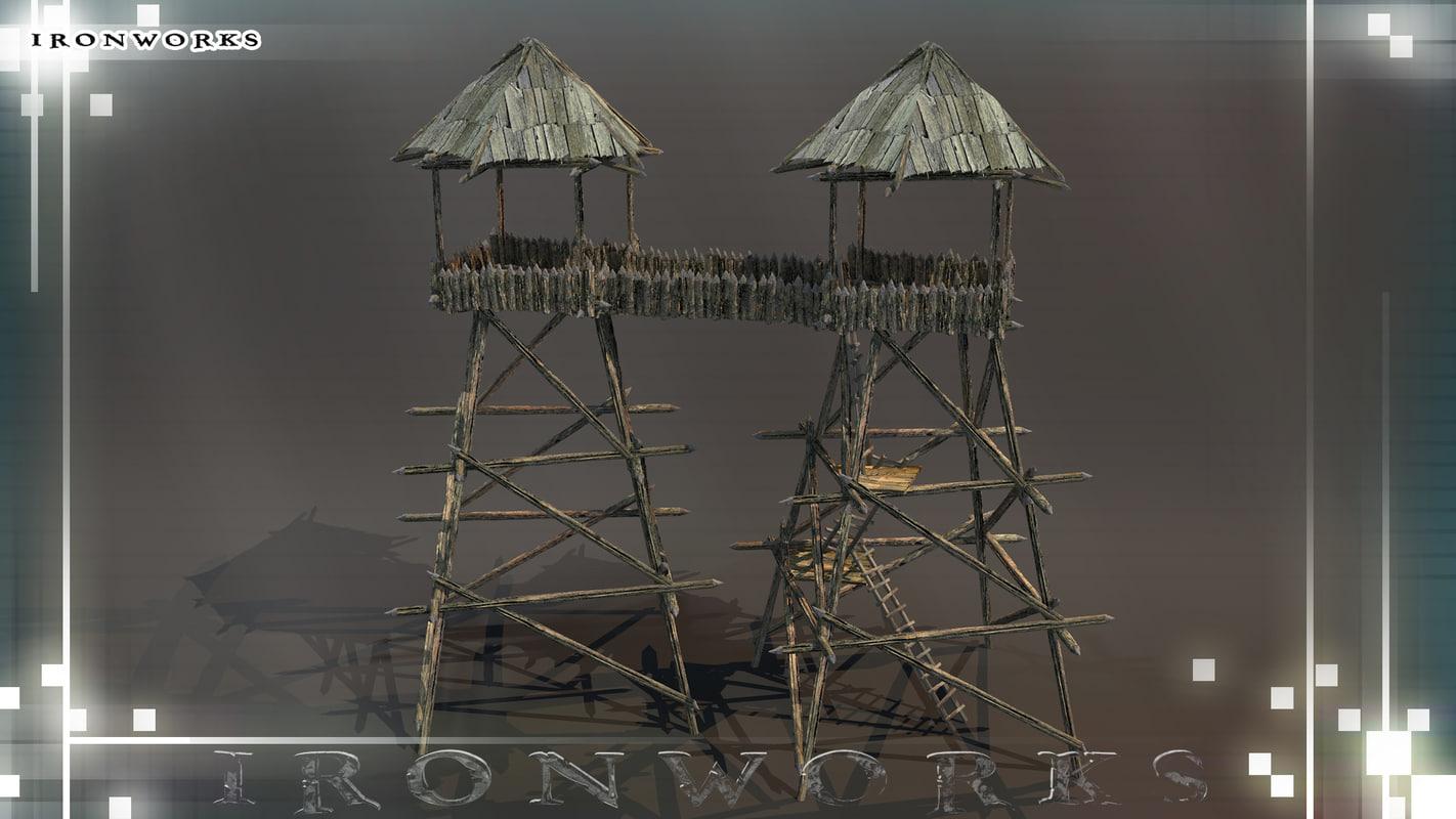 towers catwalk 3d 3ds