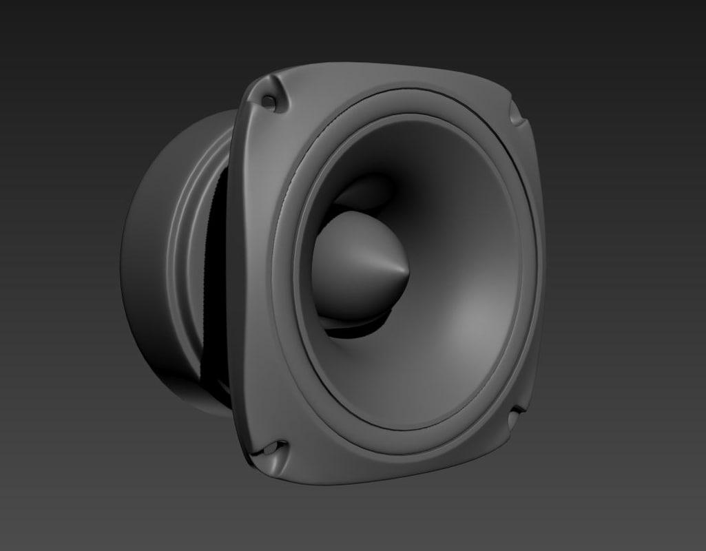 speaker tweeter 3d model