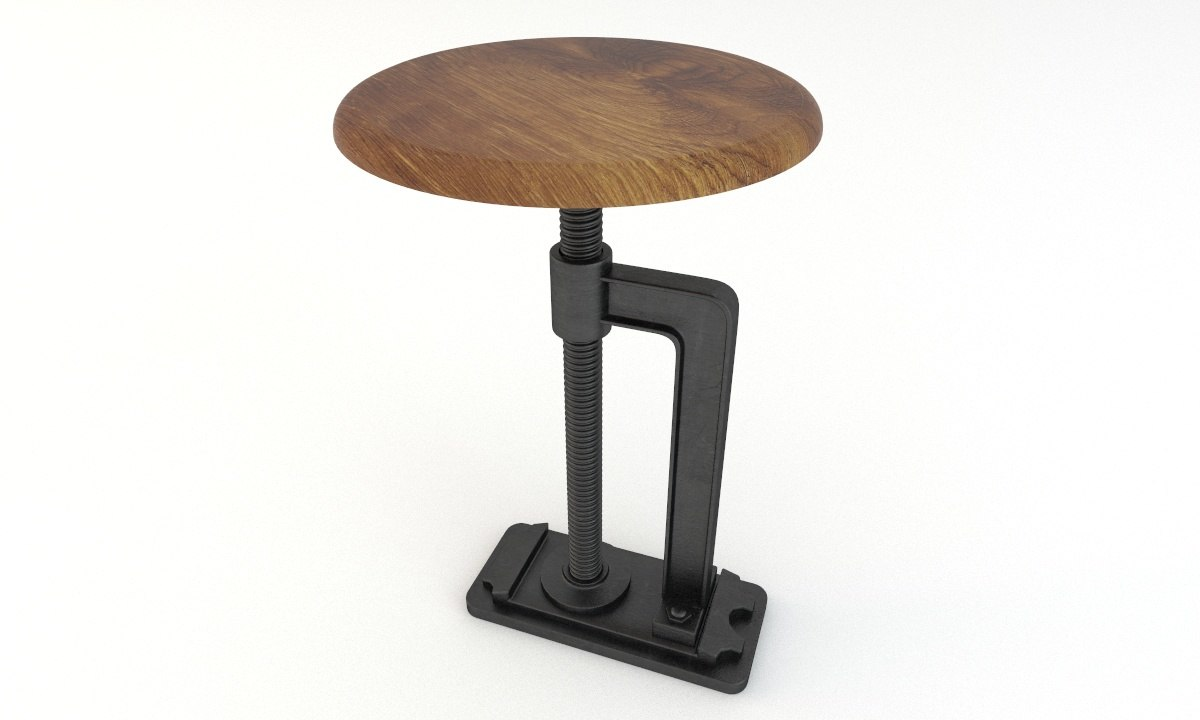 industrial stool andy 3ds