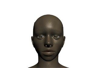 female woman girl 3d blend