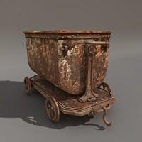 3d coal cart model