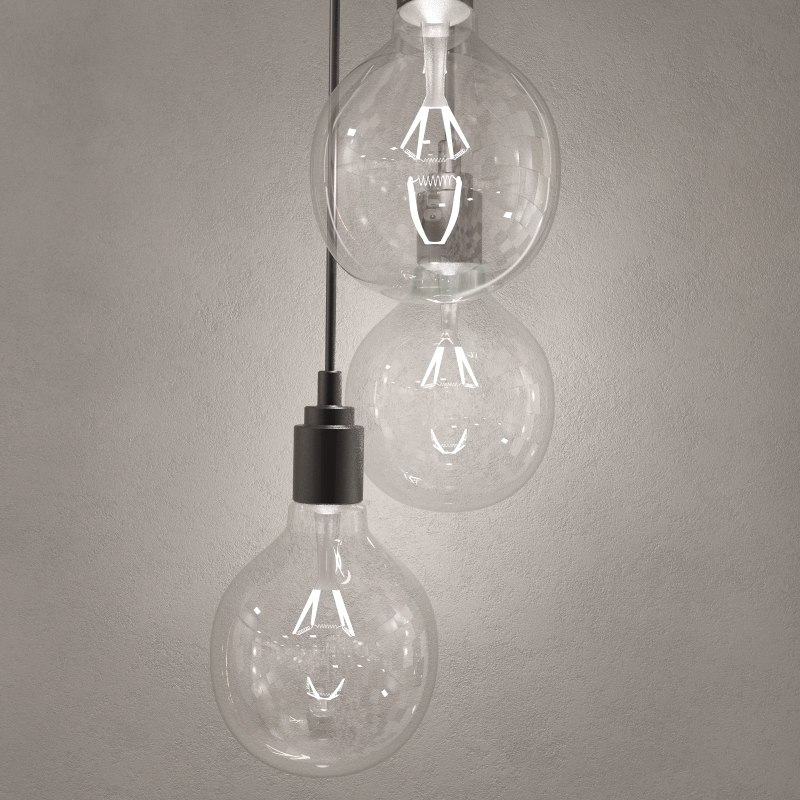 hanging bulb pendant light 3d max