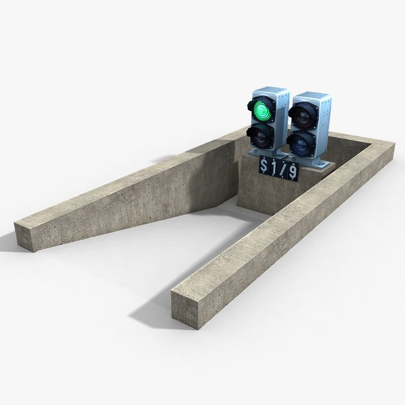railway dwarf traffic light 3d dxf