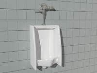 urinal bathroom 3d model