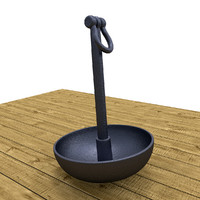 3d model mushroom anchor