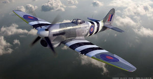 3d hawker tempest fighter aircraft