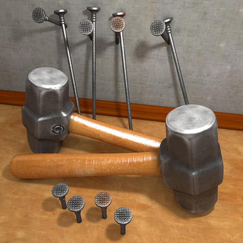 c4d hammer nails