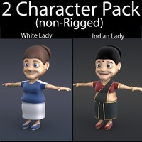 3ds max character pack 05 lady