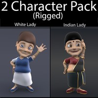3d character pack 06 lady