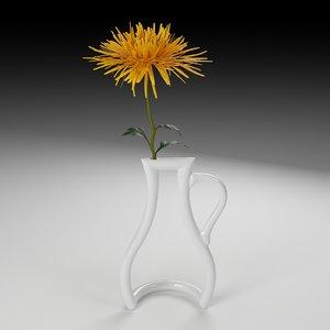 3d model of outline vase