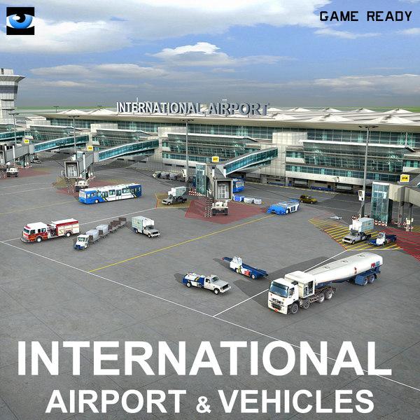 3dsmax international airport vehicles