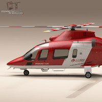 aw109 air ambulance rescue helicopter 3d obj