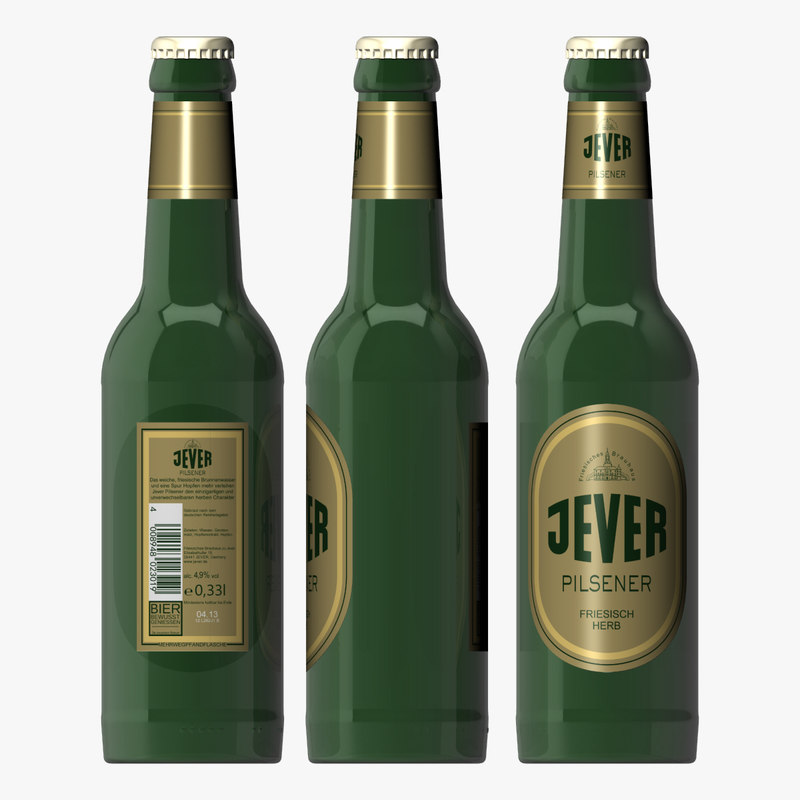 3d bottle jever beer model