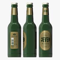 3d bottle jever beer model