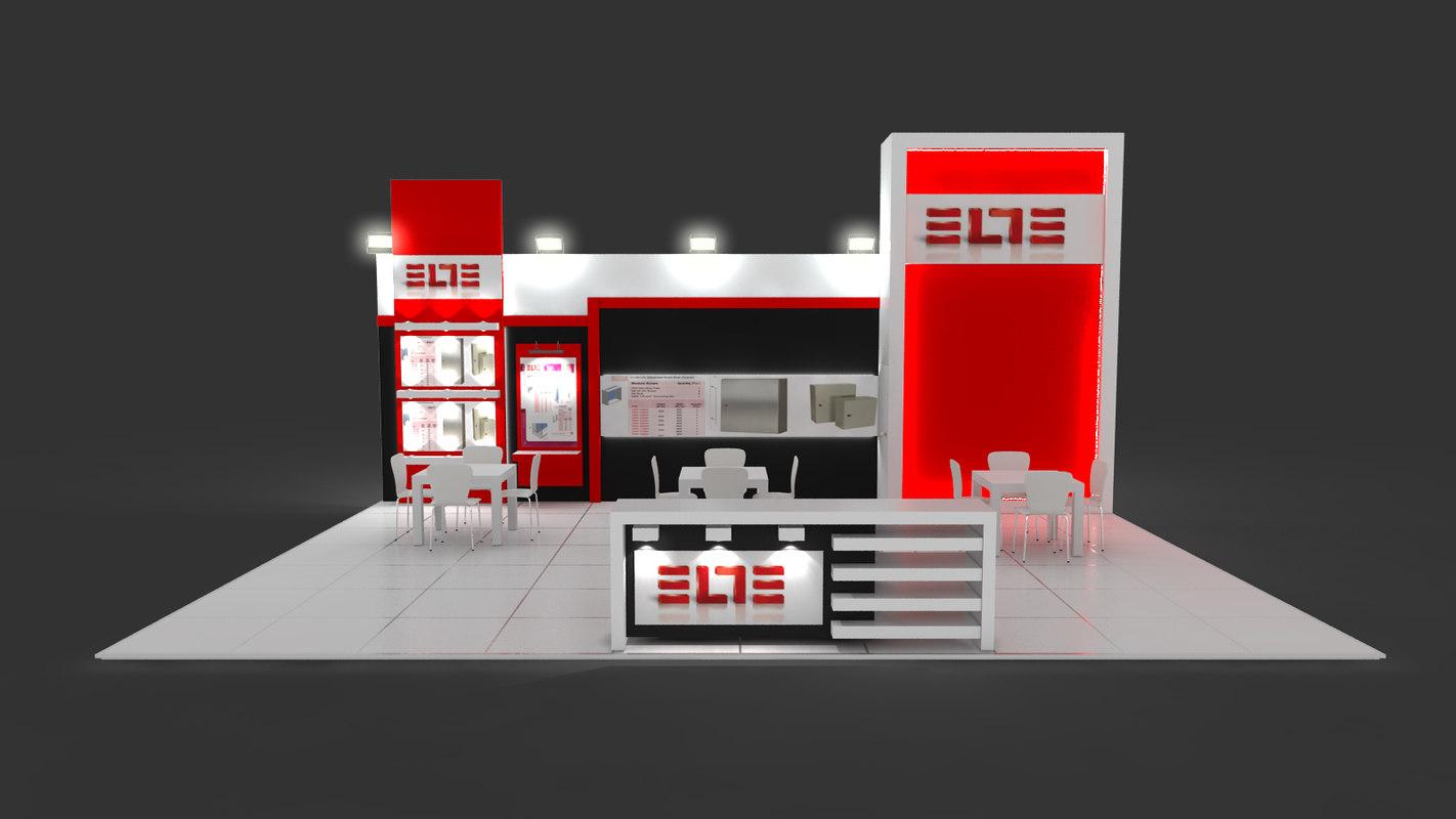 Exhibition Stand Design 3d Max : Exhibition stand design d max