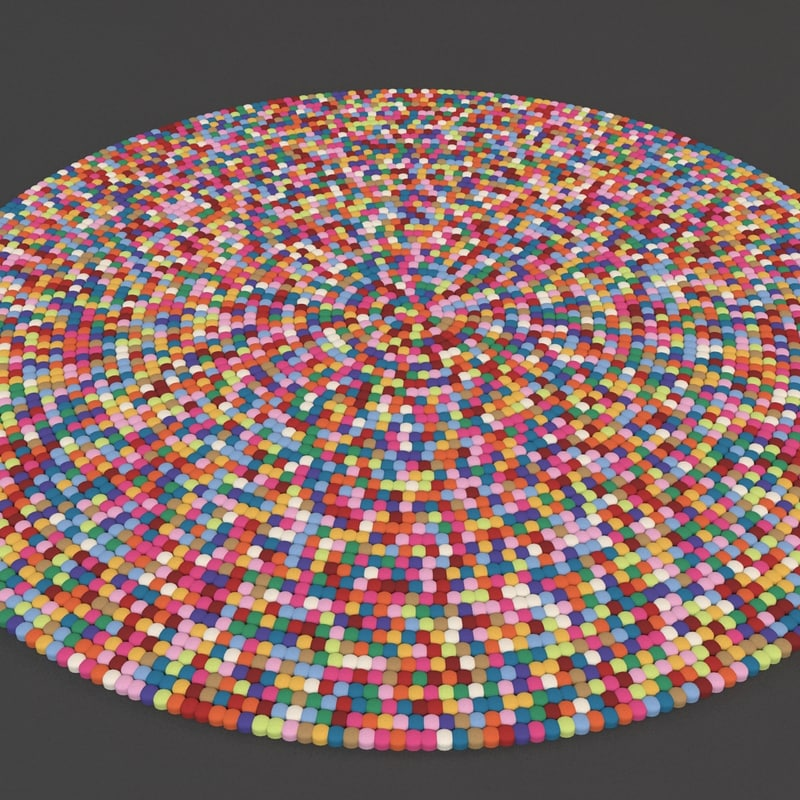 3d max carpet strands rugs