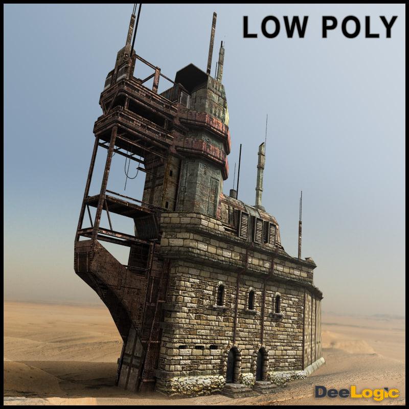 3d sci-fi castle